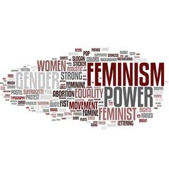 Feminism word cloud concept vector