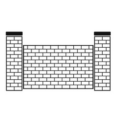 fence of brick icon simple style vector image