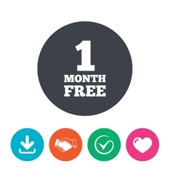 First month free sign icon Special offer symbol vector image