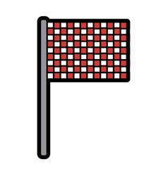 flag checkered icon image vector image
