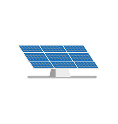 Flat solar panel power plant vector