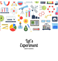 flat style science icons vector image