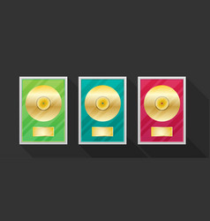 Flat vinyl disk set vector