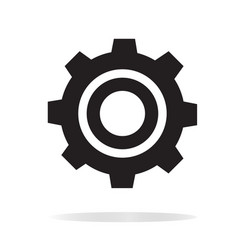 Gear icon on white background gear sign vector