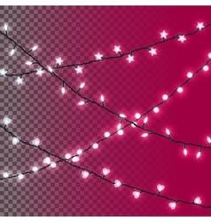 Glowing christmas lights vector