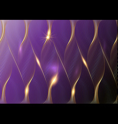 gold design elements wave many glittering lines vector image