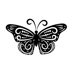 graphic icon butterfly vector image