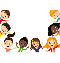 Group of cheerful children vector