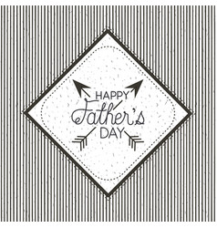 happy fathers day card with arrows crossed vector image