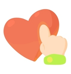 Heart touch icon cartoon style vector