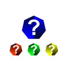 hexagon question mark icon vector image