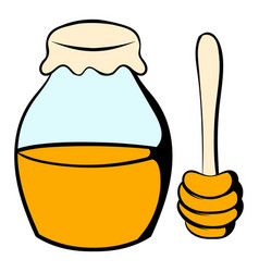 honey bank and dipper icon cartoon vector image