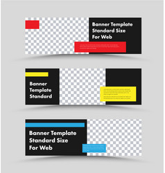 Horizontal web banners design with place for vector