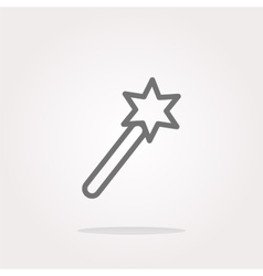 Icon magic wand web button isolated on vector