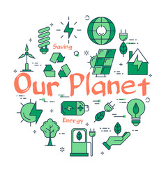 icons showing environmentally friendly attitude vector image