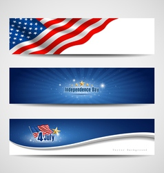 independence day banner background vector image