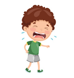 Kid crying vector