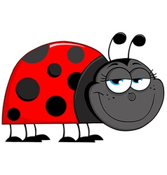 Ladybug Cartoon Character vector image