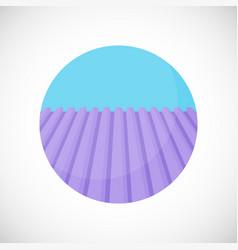 Lavender field flat icon vector