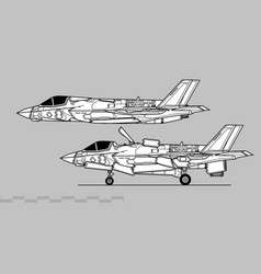 Lockheed martin f-35b lightning ii vector