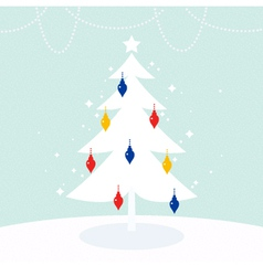 Magical Christmas Tree with colorful decoration vector image vector image