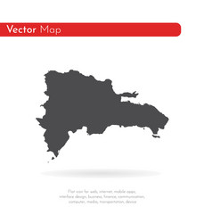 Map dominican republic isolated vector
