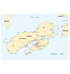 Map indonesian island ambon vector