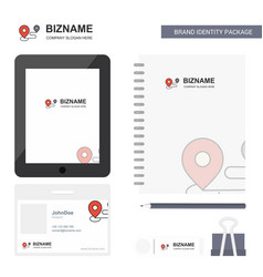 Map route business logo tab app diary pvc vector