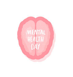mental health day vector image
