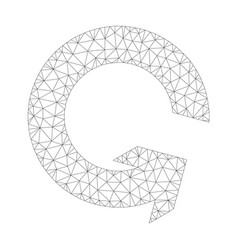 mesh rotate ccw icon vector image