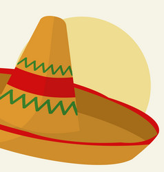 mexican hat cartoon vector image