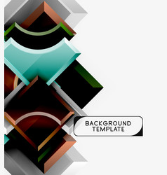 modern geometrical abstract background vector image