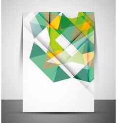 Multipurpose CMYK geometric print template vector