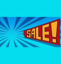 pop art background sale vector image