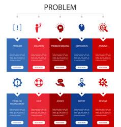 Problem infographic 10 steps ui designsolution vector