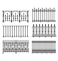 railings and fences vector image vector image
