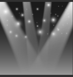 Realistic stage light transparent festival light vector