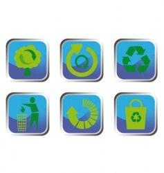 recycle button set vector image