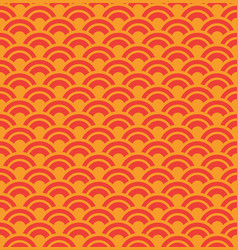 red wave seamless pattern vector image