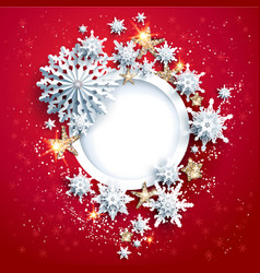 red winter design vector image