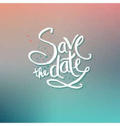 Save the Date Concept on Abstract Background vector image