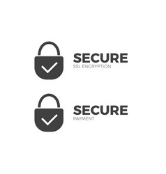 secure payment icon ssl encryption transaction vector image