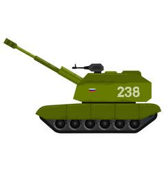 self propelled artillery caterpillar tracks vector image