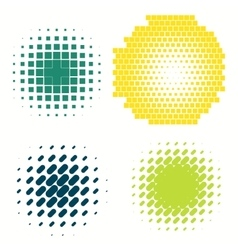 Set of colorful logos halftone Circles Logo vector