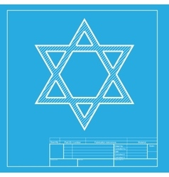 Shield Magen David Star Symbol of Israel White vector
