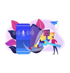 smart speaker apps development concept vector image