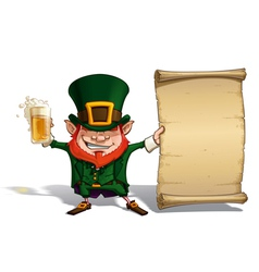 St Patrick Holding a Papyrus vector image
