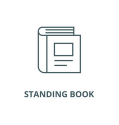 Standing book line icon linear concept vector