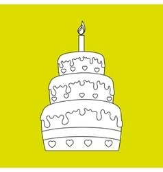 sweet cakes design vector image