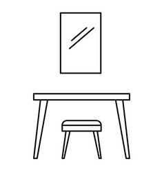 table mirror icon outline style vector image
